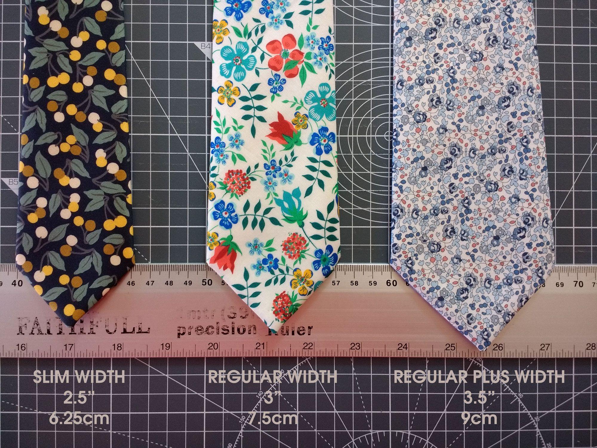 3 standard widths of CatkinJane ties