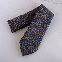 Gizmo blue tie made with Liberty fabric