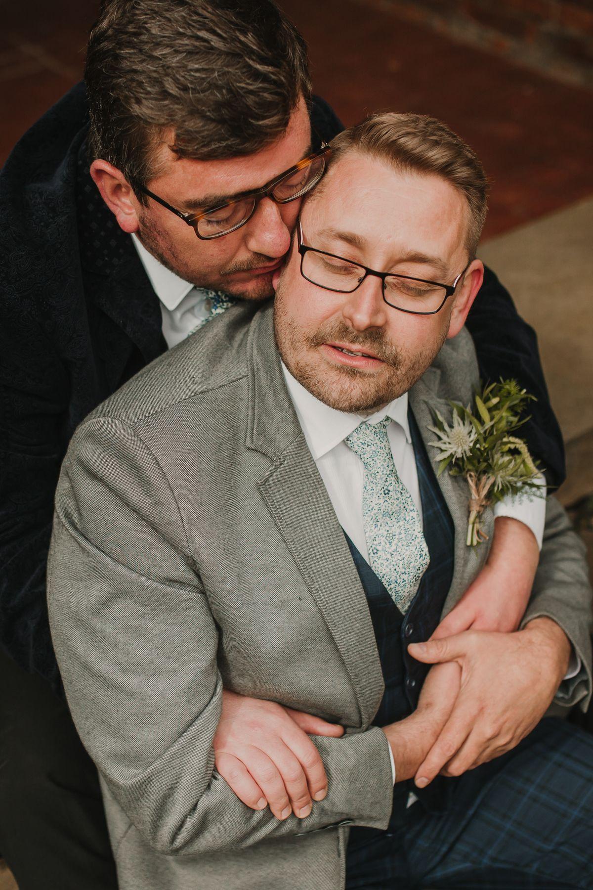 Two grooms same sex wedding
