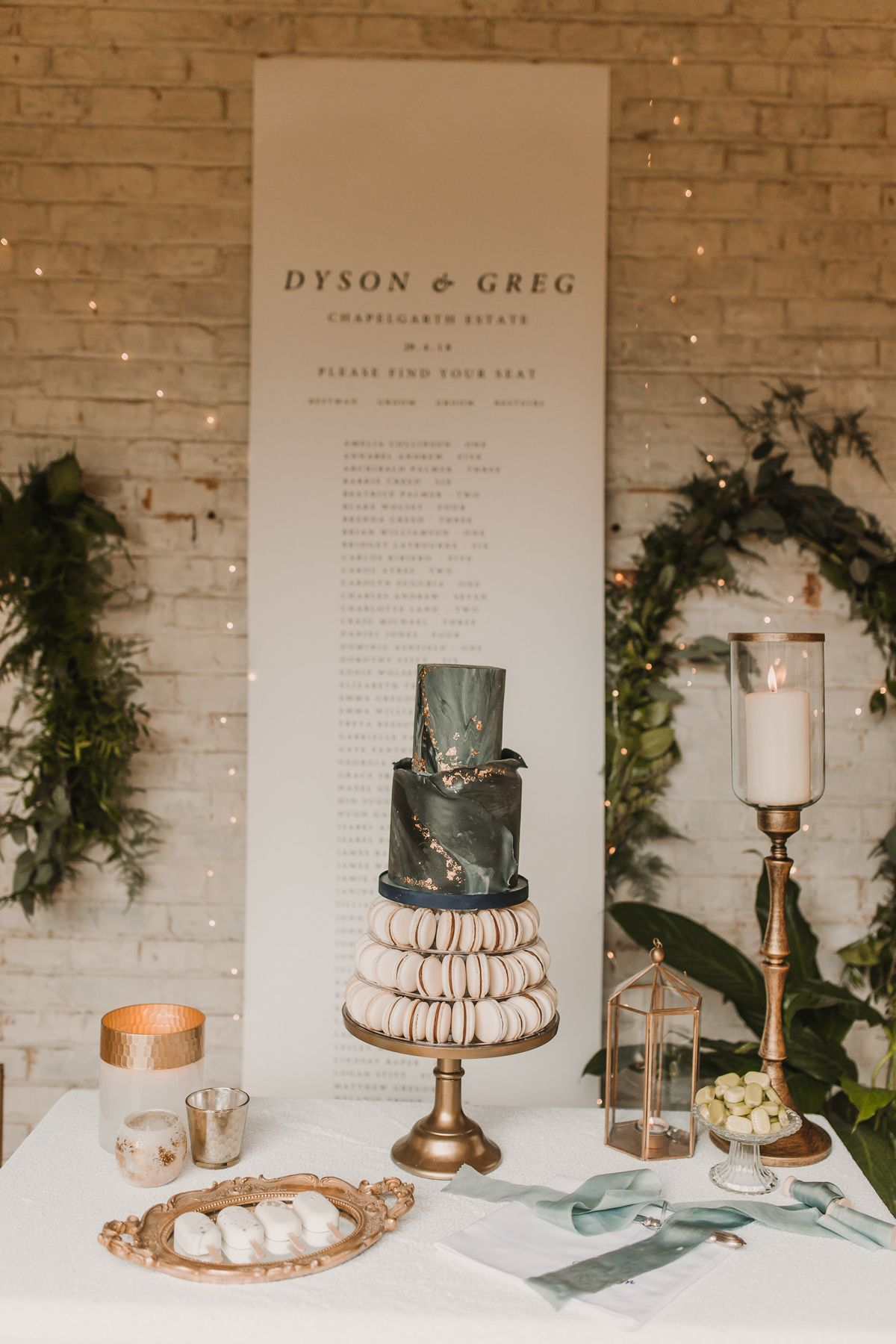 Two grooms wedding cake