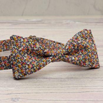 Liberty print bow tie - Pepper orange