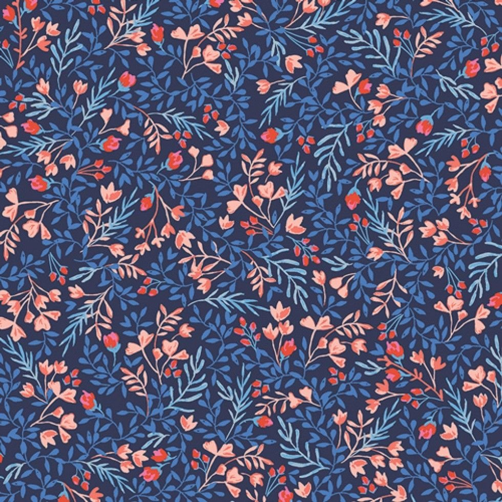 Jersey fabric snood made from Liberty fabric - Floral No.9
