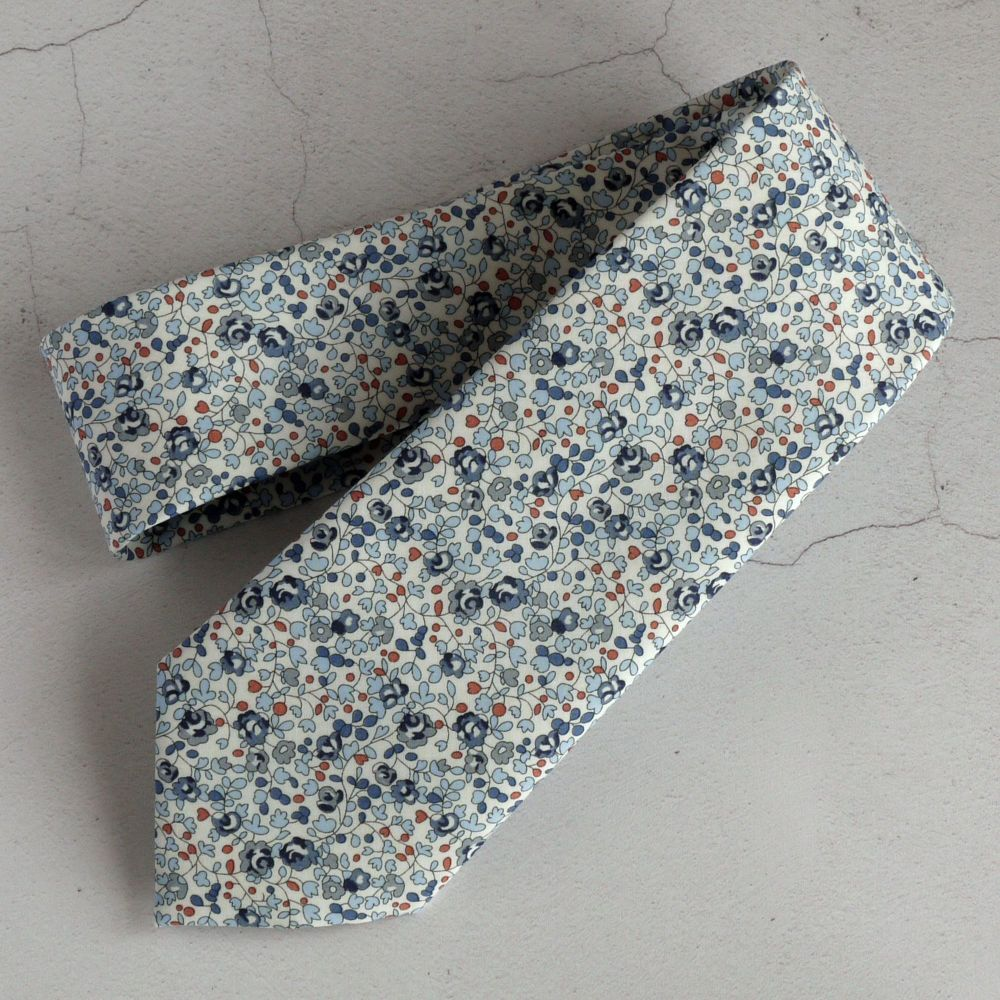 Custom order for 12 floral Liberty print ties