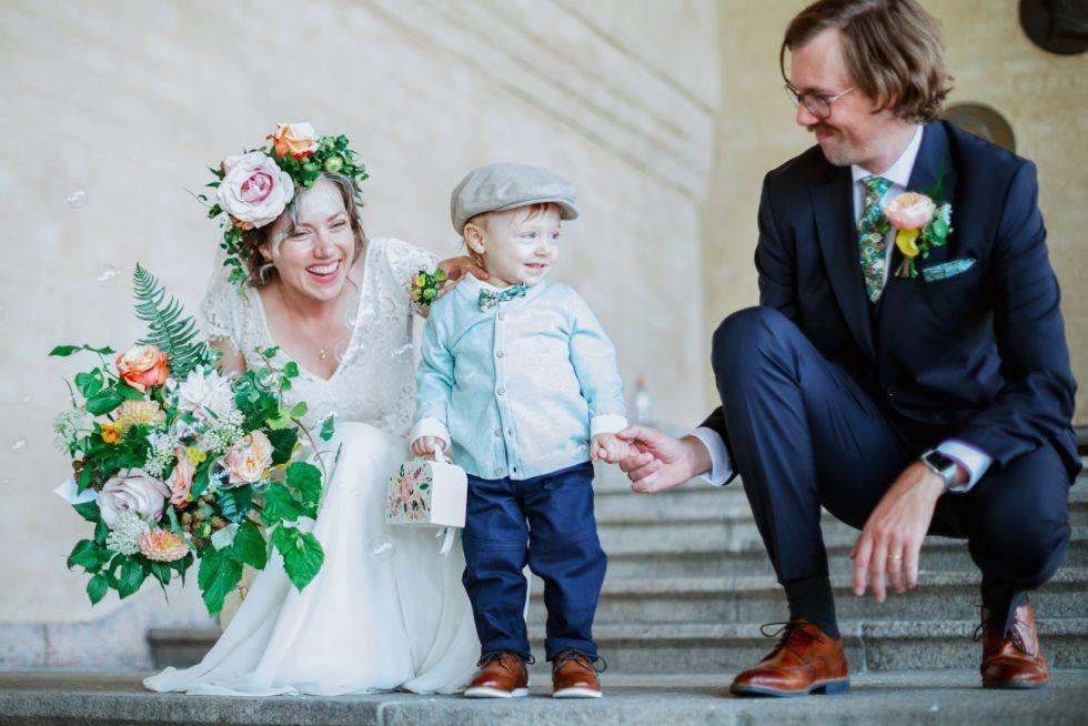 Liberty print ties for a Stockholm elopement wedding