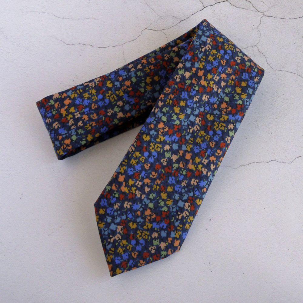 Custom order an extra long Liberty print tie - Gizmo blue