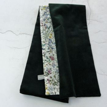 Green velvet and Liberty Wild Flowers scarf