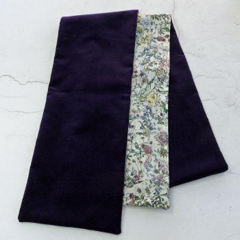 Purple velvet and Liberty Wild Flowers scarf