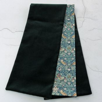 Green velvet and Strawberry Thief scarf