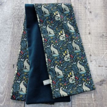 Teal Velveteen and Liberty Catherine Rowe Scarf