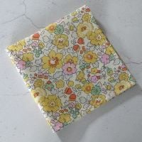 Yellow floral pocket square made with Liberty fabric - Betsy