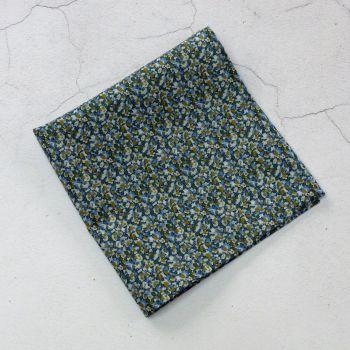 Mens pocket square - Liberty tana lawn Pepper green blue