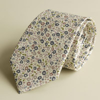 Liberty print Fairford tana lawn tie - Fairford brown