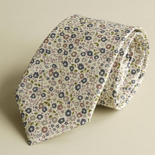 <!-111->Men's Handmade Liberty Tana Lawn Tie - Fairford brown