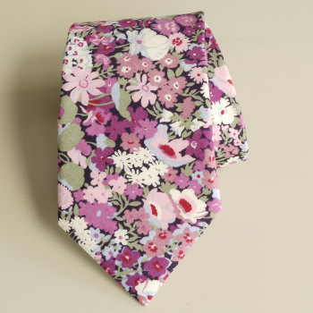 Men's Handmade Liberty Tana Lawn Tie - Thorpe purple