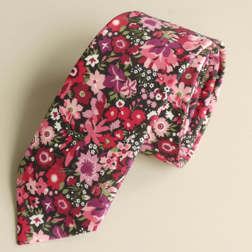 <!-111->Men's Handmade Liberty Tana Lawn Tie - Manuela