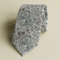 Handmade Paisley Liberty tana lawn tie - Kitty Grace