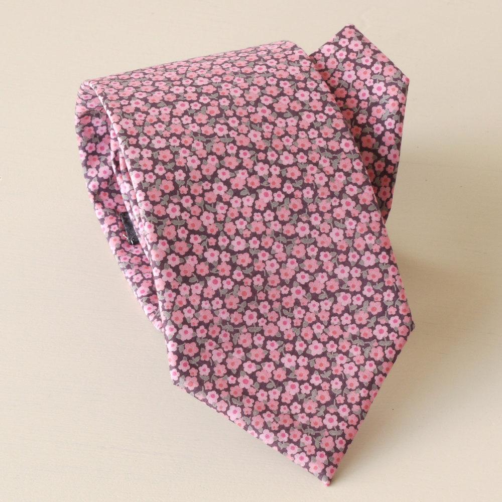 <!-111->Men's Handmade Liberty Tana Lawn Tie - Penny