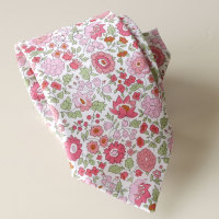 Floral Liberty print tie - D'Anjo -pink and green