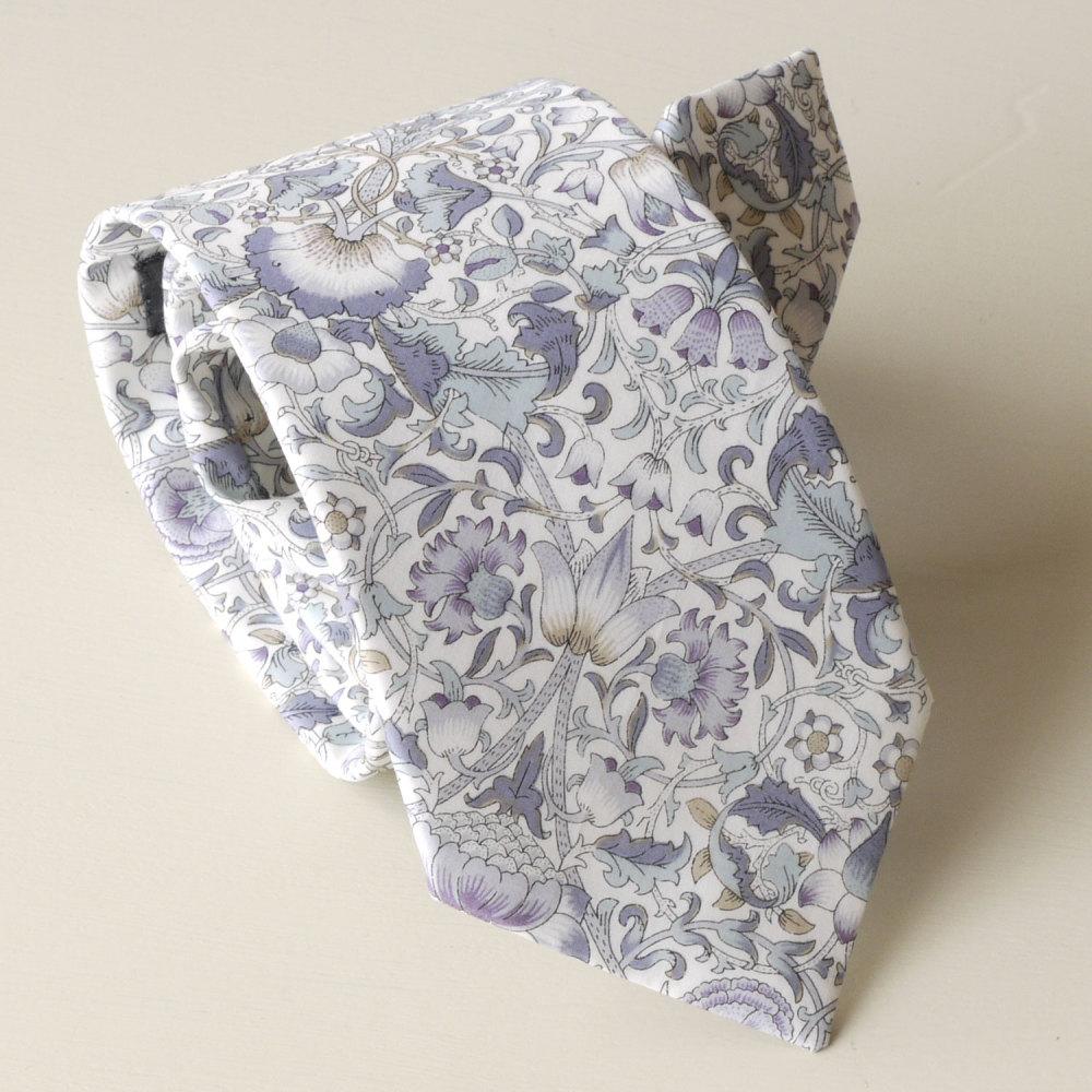 <!-111->Men's Handmade Liberty Tana Lawn Tie - Lodden Grey