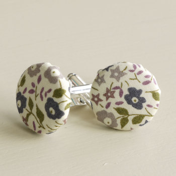 Liberty tana lawn silver plated cufflinks - Fairford