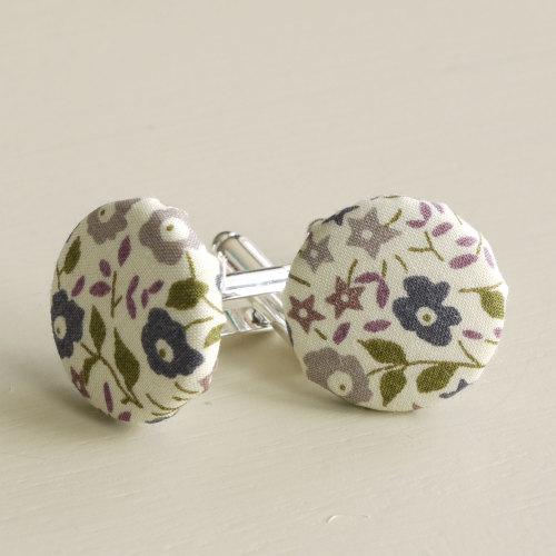 Liberty tana lawn silver plated cufflinks - Fairford