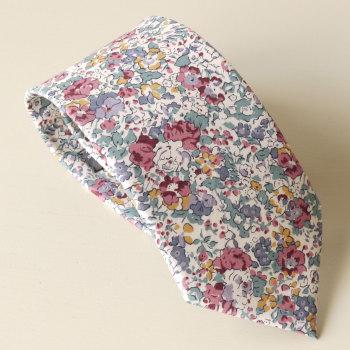 Men's Handmade Liberty Tana Lawn Tie - Claire Aude purple