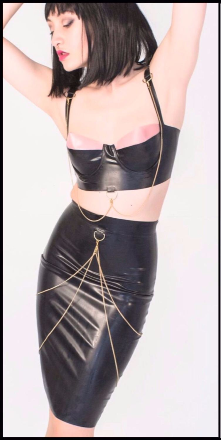 The NOIR Collection - Latex Pencil Skirt