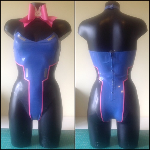 Rubber Latex D.VA Overwatch Bunny Inspired Outfit