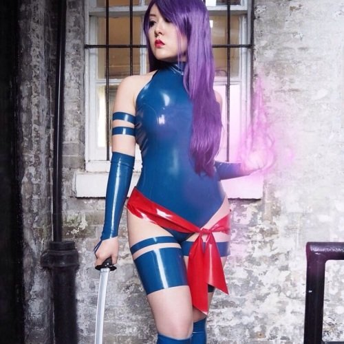 Latex Psylocke Inspired Outfit