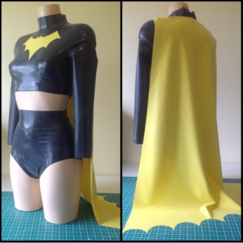 Rubber Latex Batgirl Inspired Outfit