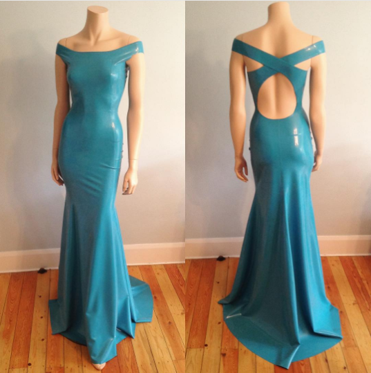 Floor Length Cross-Back Gown