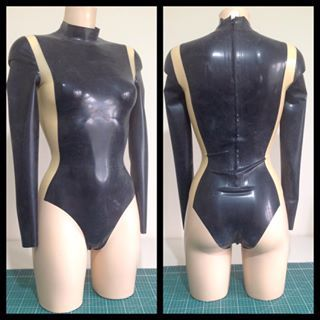 Long Sleeve Panelled Bodysuit