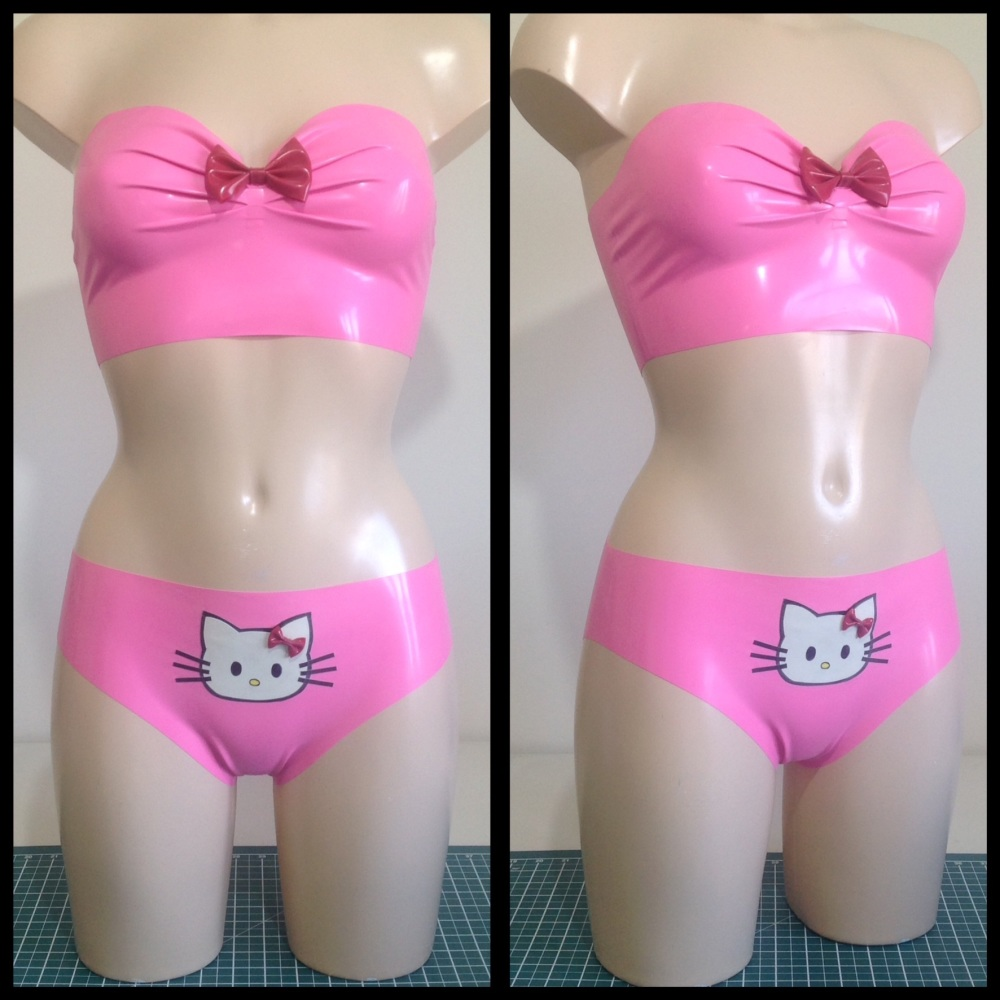 Rubber Latex Hello Kitty Inspired Set