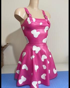 Cow Print Dungaree Dress