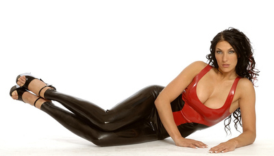 Rubber Latex High Waisted Leggings