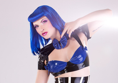 Rubber Latex Bow Bra -  Hayley Sharman for Shhh! Couture