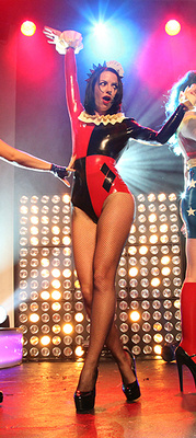 Latex Rubber Harley Quinn Batman Inspired Outfit