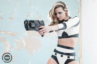 Star Wars Stormtrooper Inspired Rubber Latex Two-Piece Set