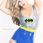 Rubber Latex Batman Inspired Bodysuit #1