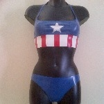 Rubber Latex Captain America Inspired Set