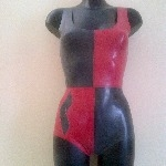 Rubber Latex Harley Quinn Inspired Bodysuit