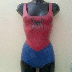 Rubber Latex Spidergirl Inspired Bodysuit