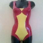 Rubber Latex Spiderwoman Inspired Bodysuit
