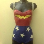 Rubber Latex Wonder Woman Inspired Bodysuit