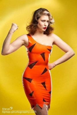 The Flintstones - Bamm Bamm Rubble Flintstones Inspired Rubber Latex Dress
