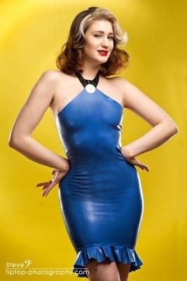 The Flintstones - Betty Rubble Flintstones Inspired Rubber Latex Dress
