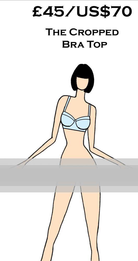 Rubber Latex Basics Cropped Bra Top