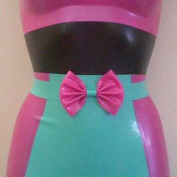 Rubber Latex Basics Skinny Bow Belt