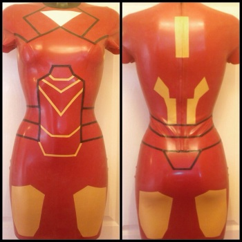 Iron Man Inspired Rubber Latex Dress Cosplay