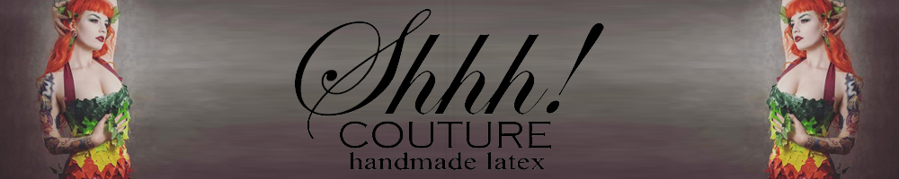 Shhh! Couture Handmade Latex, site logo.